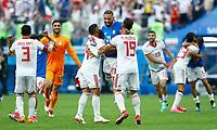 Ashkan Dejagah (Iran) Saman Ghoddos (Iran) and Majid Hosseini (Iran) celebrate<br /> Saint Petersburg 15-06-2018 Football FIFA World Cup Russia  2018 <br /> Morocco - Iran / Marocco - Iran <br /> Foto Matteo Ciambelli/Insidefoto