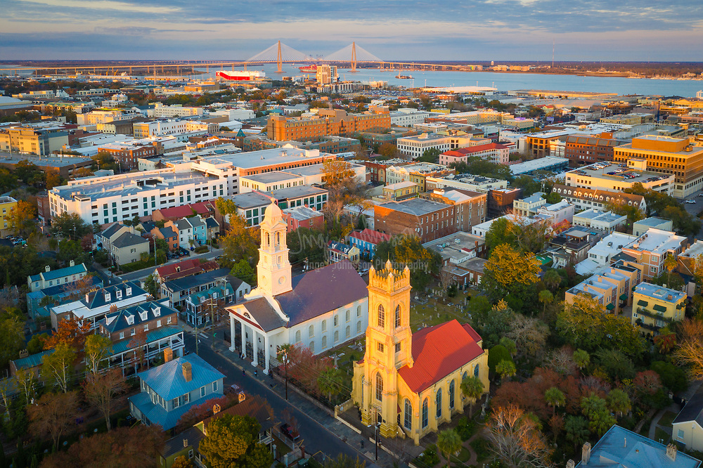 """Charleston is the oldest and largest city in the U.S. state of South Carolina, known for its large role in the American slave trade. The city is the county seat of Charleston County, and the principal city in the Charleston–North Charleston–Summerville Metropolitan Statistical Area. The city lies just south of the geographical midpoint of South Carolina's coastline and is located on Charleston Harbor, an inlet of the Atlantic Ocean formed by the confluence of the Ashley, Cooper, and Wando rivers. <br /> <br /> Charleston was founded in 1670 as Charles Town, honoring King Charles II of England. Its initial location at Albemarle Point on the west bank of the Ashley River (now Charles Towne Landing) was abandoned in 1680 for its present site, which became the fifth-largest city in North America within ten years. One of the key cities in the British colonization of the Americas, Charles Town played a major role in the slave trade, which laid the foundation for the city's size and wealth, and was dominated by a slavocracy of plantation owners and slave traders. Independent Charleston slave traders like Joseph Wragg were the first to break through the monopoly of the Royal African Company, pioneering the large-scale slave trade of the 18th century. Historians estimate that """"nearly half of all Africans brought to America arrived in Charleston"""", most at Gadsden's Wharf. Despite its size, it remained unincorporated throughout the colonial period; its government was handled directly by a colonial legislature and a governor sent by London, UK. Election districts were organized according to Anglican parishes, and some social services were managed by Anglican wardens and vestries. Charleston adopted its present spelling with its incorporation as a city in 1783 at the close of the Revolutionary War. Population growth in the interior of South Carolina influenced the removal of the state government to Columbia in 1788, but the port city remained among the ten largest cities in the """