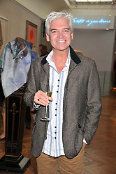 PHILLIP SCHOFIELD at a reception to unveil the Limited Centenary Edition of Sir George Frampton's statuette of Peter Pan in aid of the Moat Brae Charity held at The Fine Art Society, 148 New Bond Street, London on 1st May 2012.