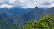 View of Machu Picchu from Llactapata, Peru. Llactapat is presumed to be on an Incan outpost near Machu Picchu.