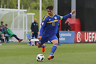 Ajdin Hasic of Bosnia and Herzegovina (10) about to cross the ball during the UEFA European Under 17 Championship 2018 match between Bosnia and Republic of Ireland at Stadion Bilino Polje, Zenica, Bosnia and Herzegovina on 11 May 2018. Picture by Mick Haynes.