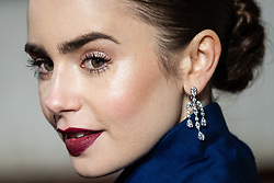 Lily Collins attending 72nd British Academy Film Awards, Arrivals, Royal Albert Hall, London. 10th February 2019