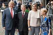 Koning Willem-Alexander en koningin Maxima tijdens de buitengewone vergadering van de Raad van State ter gelegenheid van het afscheid van vice-president Piet Hein Donner.<br /> <br /> King Willem-Alexander and Queen Maxima at the extraordinary meeting of the Council of State on the occasion of the farewell of Vice-President Piet Hein Donner.<br /> <br /> Op de foto / On the photo:  Piet Hein Donner met Koning Willem Alexander en  Koningin Maxima / Piet Hein Donner with King Willem Alexander and Queen Maxima