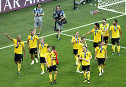 July 14, 2018 - Saint Petersburg, Russia - England v Belgium - Play off for third place final FIFA World Cup Russia 2018.Belgium greeting the supporters after the match at Saint Petersburg Stadium in Russia on July 14, 2018. (Credit Image: © Matteo Ciambelli/NurPhoto via ZUMA Press)