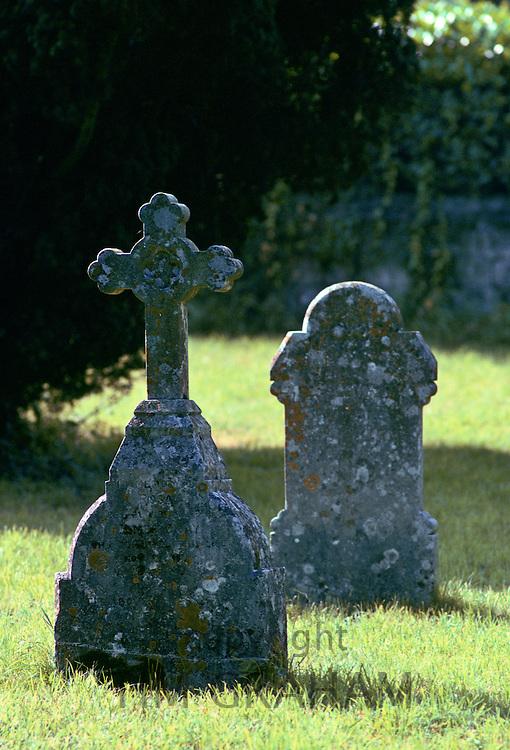 Two Gravestones, Christian Graveyard Shaftesbury, United Kingdom