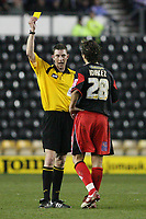 Photo: Pete Lorence.<br />Derby County v Queens Park Rangers. Coca Cola Championship. 13/03/2007.<br />Inigo Idiakez recieves a booking from referee, S Tanner.