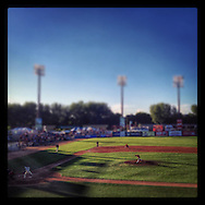 iPhone Instagram of Midway Stadium in St. Paul, Minnesota on July 2, 2014