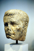 Alexander the Great  356-323 BC ( Alexander III of Macedon).  Greek portrait bust 3rd century BC.  Athens Museum