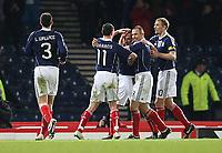 Scotland vs Czech Republic<br /> Tennents International Challenge Match<br /> Wednesday 3 March 2010 <br /> Hampden.<br /> <br />  Scott Brown goal celebrations<br /> <br /> Ian MacNicol - Colorsport<br /> <br /> Email: info@colorsport.co.uk<br /> Telephone: 01306 712233<br /> Fax: 01306 712260<br /> <br /> <br /> Registration: registration@colorsport.co.uk<br /> Sales: sales@colorsport.co.uk<br /> Enquiries: ask@colorsport.co.uk