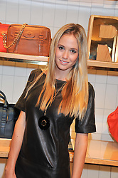 FLORENCE BRUDENELL-BRUCE at a party to celebrate the launch of the Vogue Fashion's Night Out held at Mulberry, Bond Street, London on 6th September 2012.