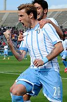 Lucas Biglia Lazio Esultanza dopo il gol Goal celebration  <br /> Cagliari 04-04-2015 Stadio Sant'Elia Football Calcio Serie A 2014/2015 Cagliari - Lazio 1-3 foto Insidefoto