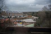 Building development, from the train, Sevenoaks, 10 December 2015