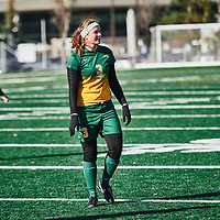 2nd year forward, Meghan McFee (3) of the Regina Cougars during the Women's Soccer home game on Sun Oct 14 at U of R Field. Credit: Arthur Ward/Arthur Images