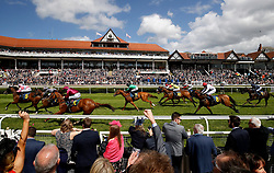 Amomentofmadness ridden by William Buick wins The Gateley PLC Handicap Stakes, during Ladies Day of the 2018 Boodles May Festival at Chester Racecourse.