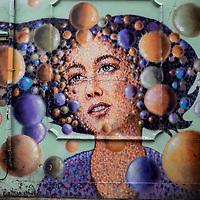 Street art on Whitby Street, E1;<br />London in Lockdown July 2020;<br />London, UK;<br />14th July 2020.<br /><br />© Pete Jones<br />pete@pjproductions.co.uk