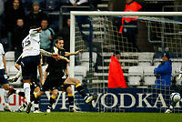 Photo: Paul Greenwood/Sportsbeat Images.<br />Preston North End v Cardiff City. Coca Cola Championship. 29/12/2007.<br />Preswton's Simon Whalley (15) scores the opening goal