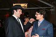 Roberto Rodriguez & Johnny Depp.**EXCLUSIVE**.2005 Golden Globe Awards Miramax Post Party.Beverly Hilton Hotel.Beverly Hills, CA, USA.Sunday, January, 16, 2005.Photo By Selma Fonseca Celebrityvibe.com, New York, USA, Phone 212-410-5354, email:sales@celebrityvibe.com...
