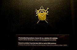 Prostozidarska razstava v Narodnem muzeju<br /> // Exhibition of Freemasonry in Slovenia and press conference organised by Grand Lodge of Slovenia, on March 17, 2017 in Narodni muzej Slovenije, Ljubljana, Slovenia. Photo by Vid Ponikvar / Sportida