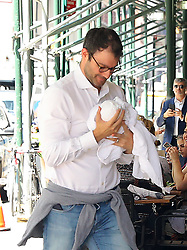July 27, 2019, New York, New York, United States: July 25, 2019 New York City..Hillary Clinton, Chelsea Clinton, with new born baby, Jasper Mezvinsky, and Marc Mezvinsky arriving home on July 25, 2019 in New York City  (Credit Image: © Jo Robins/Ace Pictures via ZUMA Press)
