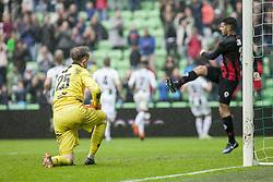 FC GRONINGEN - EXCELSIOR, 5. Memisevic scoort de 2-0 during the Dutch Eredivisie match between FC Groningen and sbv Excelsior at Noordlease stadium on April 29, 2018 in Groningen, The Netherlands