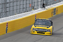 March 1, 2019 - Las Vegas, NV, U.S. - LAS VEGAS, NV - MARCH 01: Grant Enfinger (98) Curb Motorsports Ford F-Series drives into turn one during qualifying for NASCAR Gander Outdoors Truck Series The Strat 200 on March 1, 2019, at Las Vegas Motor Speedway in Las Vegas, Nevada. (Photo by Michael Allio/Icon Sportswire) (Credit Image: © Michael Allio/Icon SMI via ZUMA Press)