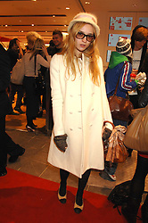 Model VALENTINE FILLOL-CORDIER at a party to celebrate the opening of the new Uniqlo store at 331 Oxford Street, London W1 on 6th November 2007.<br /><br />NON EXCLUSIVE - WORLD RIGHTS