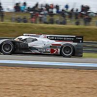 #2 Audi R18 e-tron quattro, Audi Sport Team Joest (drivers: Duval/Kristensen/McNish) LM P1, at Le Mans 24H 2013 (Winner LM P1)