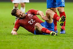 November 15, 2018 - Gdansk, Poland, Injured FILIP NOVAK from Czech Republic during football friendly match between Poland - Czech Republic at the Stadion Energa in Gdansk, Poland