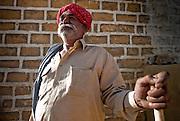 Headman in a desert village, Rajhastan, India