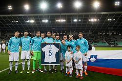Players of National team of Slovenia during friendly football match between National teams of Slovenia and Belarus, on March 27, 2018 in SRC Stozice, Ljubljana, Slovenia. Photo by Urban Urbanc / Sportida