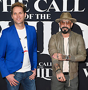 """13 February 2020 - Hollywood, California - AJ McLean and Mark Adler at the World Premiere of twentieth Century Studios """"The Call of the Wild"""" Red Carpet Arrivals at the El Capitan Theater."""