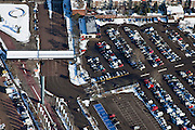 Nederland, Utrecht, Utrecht, 31-01-2010; Croeselaan, parkeerterein en ingang / uitgang van de Jaarbeurs;.parking and entrance / exit of the Fair;.luchtfoto (toeslag), aerial photo (additional fee required).foto/photo Siebe Swart