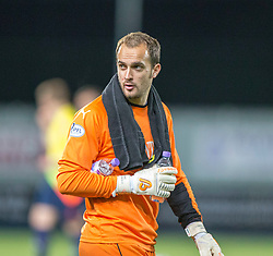 Falkirk's keeper Jamie MacDonald.<br /> Falkirk beat Cowdenbeath in a penalty shoot-out, second round League Cup tie played at The Falkirk Stadium.