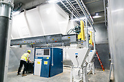 A view inside the pea flour milling operation at the Puris pea protein processing facility in Dawson, Minnesota, on Tuesday, June 8, 2021.