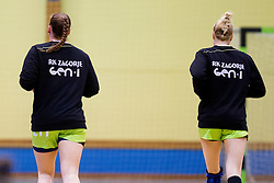 During handball match between ZRK Mlinotest Ajdovscina and RK Zagorje in 17th Round of Slovenian Women Handball League 2015/16 on April 6, 2016 in Sports hall Police Ajdovscina, Ajdovscina, Slovenia. Photo By Urban Urbanc / Sportida