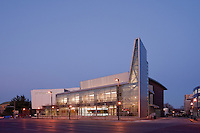 College Photography by Maryland Building Photographer Jeffrey Sauers Exterior Image of Performing Arts Center at Montgomery College, Bethesda, MD