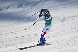 12.01.2013, Karl Schranz Abfahrt, St. Anton, AUT, FIS Weltcup Ski Alpin, Abfahrt, Damen im Bild Marie Marchand-Arvier (FRA) // Marie Marchand-Arvier of France in action during ladies Downhill of the FIS Ski Alpine World Cup at the Karl Schranz course, St. Anton, Austria on 2013/01/12. EXPA Pictures © 2013, PhotoCredit: EXPA/ Johann Groder