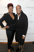 New York, NY-December 3: (L-R) Author/Designer Harriete Cole and Edward Wilkerson, Creative Director, Lafayette 148 attend Harriette Cole's 20th Anniversary Business Celebration held at Lafayette 148 Headquarters on December 3, 2015 in New York City.  (Photo by Terrence Jennings/terrencejennings.com)