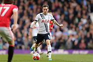 Ryan Mason of Tottenham Hotspur in action. Barclays Premier league match, Tottenham Hotspur v Manchester Utd at White Hart Lane in London on Sunday 10th April 2016.<br /> pic by John Patrick Fletcher, Andrew Orchard sports photography.