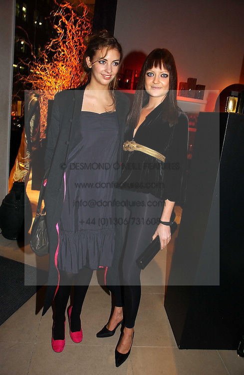 Left to right, ROSE HANBURY and LADY ELOISE ANSON at the launch party for Donna Karan's new fragrance Gold held at the Donna Karan store, 19 New Bond Street, London on 16th November 2006.<br /><br />NON EXCLUSIVE - WORLD RIGHTS