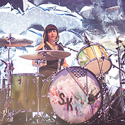 WASHINGTON, DC - February 24, 2015 - Janet Weiss of Sleater-Kinney performs during the first of two sold-out shows at the 9:30 Club in Washington, D.C. The band, on hiatus since 2006, reunited late in 2014 and recently released No Cities to Love, their first album in almost 10 years. (Photo by Kyle Gustafson / For The Washington Post)