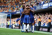 Chelsa celebrate didier drogba's late winner<br /> F.A. Barclaycard Premiership. Chelsea v Hull. 15.08.09<br /> Pic By Karl Winter Fotosports International