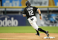 CHICAGO - APRIL 14:  Adam Eaton #12 of the Chicago White Sox runs the bases against the Cleveland Indians on April 14, 2021 at Guaranteed Rate Field in Chicago, Illinois.  (Photo by Ron Vesely). Subject:  Adam Eaton