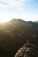 Backpacking near the Pinnacle Peak area. Mt. Rainier National Park, WA.