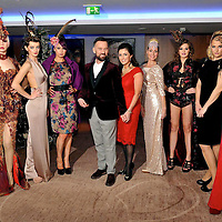 Pictured at the Christmas in Killarney Fashion Show in the Aghadoe Heights Hotel on Thursday night were from Off The Rails presenter, Brendan Courtney, Marie Chawke, General Manager, Aghadoe Heights Hotel,  models, Joanne O'Connor, Victoria Tynan,  Jennifer Lenihan, Sarah Wickham, Aine Doherty and Norma O'Donoghue, organiser.<br /> Picture by Don MacMonagle<br /> <br /> PR Photo from CIK