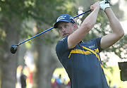 ST. LOUIS, MO - AUGUST 09: Henrik Stenson of Sweden tees off on the #11 hole during the first round of the PGA Championship on August 09, 2018, at Bellerive Country Club, St. Louis, MO.  (Photo by Keith Gillett/Icon Sportswire)