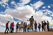 Geomorphology professor Robert Anderson, of the University of Colorado, lectures his students during a field trip to Southern Utah.