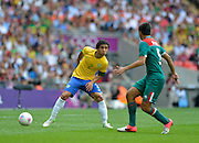 Wembley, Greater London, GREAT BRITAIN..Description:  Brazilian RAFAEL. on the ball.   2012 Olympic Football Men's Final: Brazil vs Mexico [Gold medal Game] at Wembley Stadium, London..16:22:29  Saturday   11/08/2012  [Mandatory Credit: Peter Spurrier/Intersport Images]  Wembley, Great Britain,