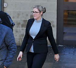Pictured: Amanda Donaldson leaves court.<br /> <br /> Author JK Rowling is suing her former PA Amanda Donaldson for damages after the Harry Potter author claimed Ms Donaldson used Ms Rowling's money to go on lavish shopping sprees, including buying two designer cats, spending more than £3600 GBP on makeup and more than £1600 GBP in coffee chain Starbucks. The case, before Sheriff Derek O'Carroll, is being heard at Airdrie Sheriff Court.<br /> <br /> (c) Dave Johnston / EEm
