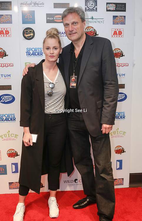 London,England,UK. 14th May 2017. Teresa Brantlova,Lance Haggith is a player for the Charity Game at the BBL Play-Off Finals also fundraising for Hoops Aid 2017 but also a major fundraising opportunity for the Sports Traider Charity at London's O2 Arena, UK. by See Li
